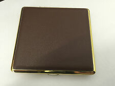 New CIGARETTE CASE Tobacco Smoking Leather Look  Tin Holder