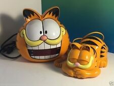 VINTAGE GARFIELD CLOCK PHONE SUNBEAM TELEMANIA ORANGE CAT COLLECTIBLES CARTOON