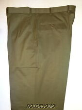 NEW $900 men BRIONI ITALY 38 W DRESS PANTS CANNES SUPER 140's WOOL SAGE GREEN