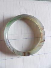Vintage Vidrio Jade De Imitación Brazalete 1CM Ancho bastante pequeño 4