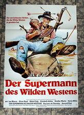 SUPERMANN DES WILDEN WESTENS * A1-FILMPOSTER Ger 1-Sheet ´77 O. REED, LEE MARVIN