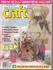 Quick & Easy Crafts February 2000 Crafty Candles/Wonderful Wood/Florals