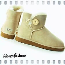 ������UGG AUSTRALIA Ankle Boots Sand Bailey Button UK 7✨6.5✨39.5 USED✨Paid✨£159
