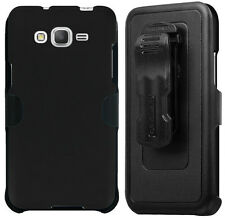 BLACK CASE BELT CLIP HOLSTER SCREEN PROTECTOR FOR SAMSUNG GALAXY GRAND PRIME