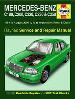 Mercedes W202 C-Class C180 C200 C220 C230 C250 1993-2000 Haynes Manual 3511 NEW