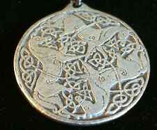 Celtic Horses Goddess Epona Pewter Pendant Leather Necklace! New Irish Roman
