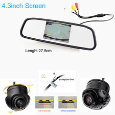 "4.3"" Car LCD TV/DVD Mirror Screen CCD 170° Rear View Parking Monitor/Camera kits"