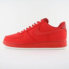 New Mens Nike Air Force 1 Red White Leather Trainers UK 9.5 BNIB 820266 603 Rare