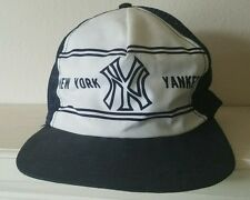 Vintage New York Yankees Snapback Trucker Mesh Cap Hat Toppers Hats MLB Blue VTG