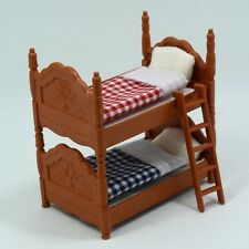 Miniature Two Bed Sheets Plastic Doll House Furniture for Sylvanian Families