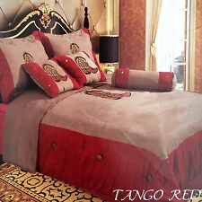 Embroidery Printed Texas Western Boots Luxury Comforter Suede 7 Pieces Set King