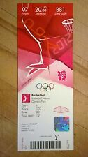 LONDON 2012 TICKET BASKETBALL COLLECTORS EDITION 07 AUG 2000 B81 £95 *MINT*