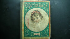 CHATTERBOX 1891 ANTIQUE CHILDRENS YOUNG ADULT BOOK FINE ART STEEL PRINTS VINTAGE