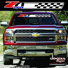 Chevy SILVERADO Colorado Winshield Banner Decal Z71 4x4 Graphics Vinyl Sticker