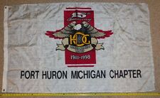 Rare HOG 15th Anniversary 5' chapter Flag 1983 1998 signed flhr softail flhtcu