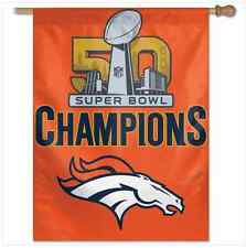 "Super Bowl Champions Denver Broncos NFL Vertical Flag 27"" x 37"""