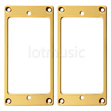 2 Pieces Flat Metal Humbucker Pickup Mounting Ring Gold