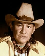 """WILL SAMPSON NATIVE AMERICAN INDIAN ACTOR 8x10"""" HAND COLOR TINTED PHOTOGRAPH"""