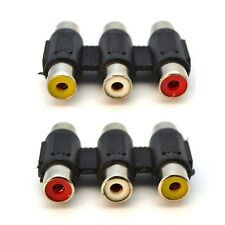 3 RCA Female to 3 RCA Female Audio/Video Cable Connector, Extender, Adapter