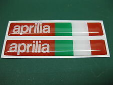 2 Aprilia Domed stickers with an Italian Flag Red/White 78mm x 13mm
