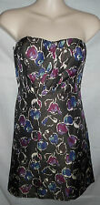 AMERICAN EAGLE OUTFITTERS Charcoal Shimmer Pleated strapless Dress Size 6 $69