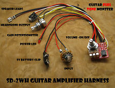 TONE MONSTER SD2WH NO SOLDER Guitar Amp Harness 2W Volume Gain HDPH Cigar Box