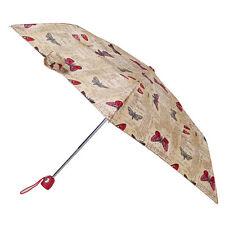 Totes Auto Open & Close Thin Umbrella - Butterfly Postcard