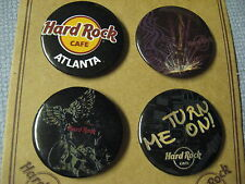 Set 4 Rare Vintage Hard Rock Cafe HRC 1992 Atlanta Guitar Anatomy Button Pins