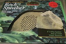 """Living Accents Lawn And Garden 5"""" Two-Way Rock Speaker Ace Hardware  NIB"""