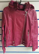 Girls Faux Leather Jacket With Hoody