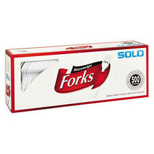 Solo Plastic Forks White 500ct party Catering Picnic Disposable NEW!