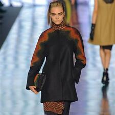NEW ETRO RUNWAY STUNNING MICRO-BEADED WOOL BLACK COAT 44 - 8/12