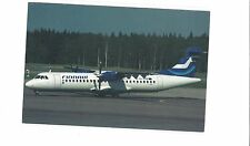 Finnair airlines issued ATR cont/l postcard