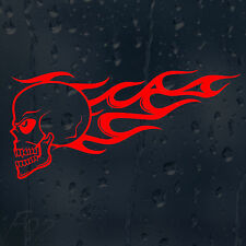 Fire Flame Red Skull Car Decal Vinyl Sticker For Bumper Panel Window
