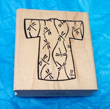 Asian Kimono rubber stamp Dragonflies dragonfly design wood mounted Hot Potatoes