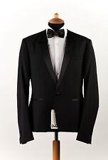 New DOLCE & GABBANA D&G Wool+Silk Black Suit Tuxedo + Modern Pant 38US 48EU