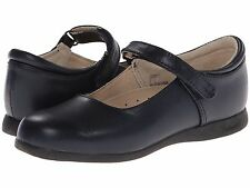 Navy LEATHER MaryJanes School Shoes FootMates  Girls Size 12 1/2 M/W