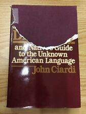 A Second Browser's Dictionary by John Ciardi, Inscription HC/DJ 1983 1st Edition