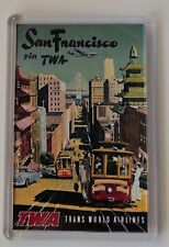 San Francisco Vintage Travel Poster Fridge Magnet