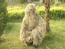 Tactical Yellow Desert Ghillie Suit Dry Grass Style CS Sniper Camo Clothing