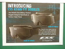 8/2007 PUB ESS EYE SAFETY SYSTEMS MILITARY TACTICAL GOGGLES ASIAN FACES AD