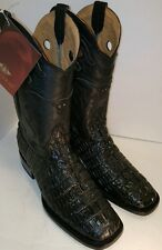 MEN'S WESTERN COWBOY BOOTS,BLACK, RODEO  CROCODILE TAIL PRINT SIZE 10