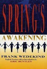 Spring's Awakening Wedekind, Frank Paperback