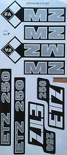 MZ ETZ 250 STICKER SET 8 PIECE SET