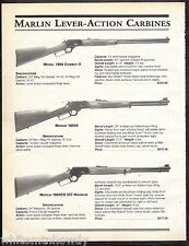 1999 MARLIN 1894 Cowboy II, 1894S, 1894CS .357 Magnum Lever Action Carbine AD