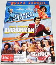 Blades Of Glory / Anchorman / Old School Uncut---(Dvd 3 Disc Set)