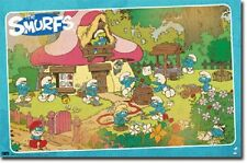 THE SMURFS RETRO 22x34 NEW GROUP POSTER TV SHOW MOVIE FREE SHIPPING