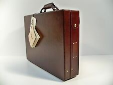 "Hartmann Cordovan Belting Leather Attache 4"" Briefcase with Fan File"