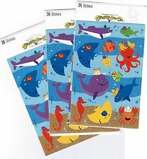 3 Packs SEA LIFE Undersea Ocean Fish Octopus Sting Ray Whale Scrapbook Stickers!