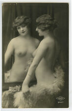 1920s Sexy Seductive NUDE FLAPPER risque photo postcard